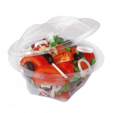 Bol salade transparent à couvercle déchirable 350 g - carton de 300