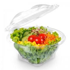 Bol salade cristal à couvercle déchirable 750 gr - par 200