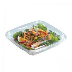 Boite à salade crudipack cristal 370 gr avec couvercle - par 80