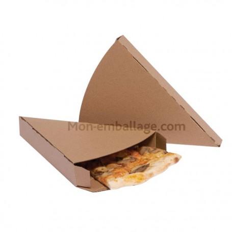 Boîte kraft brun pour portion individuelle de pizza