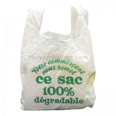 Sac bretelles hd biodégradable 30 x 8 x 53 cm - par 1000