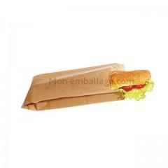 Sac sandwich kraft brun 10 x 4 x 35 cm - par 1000