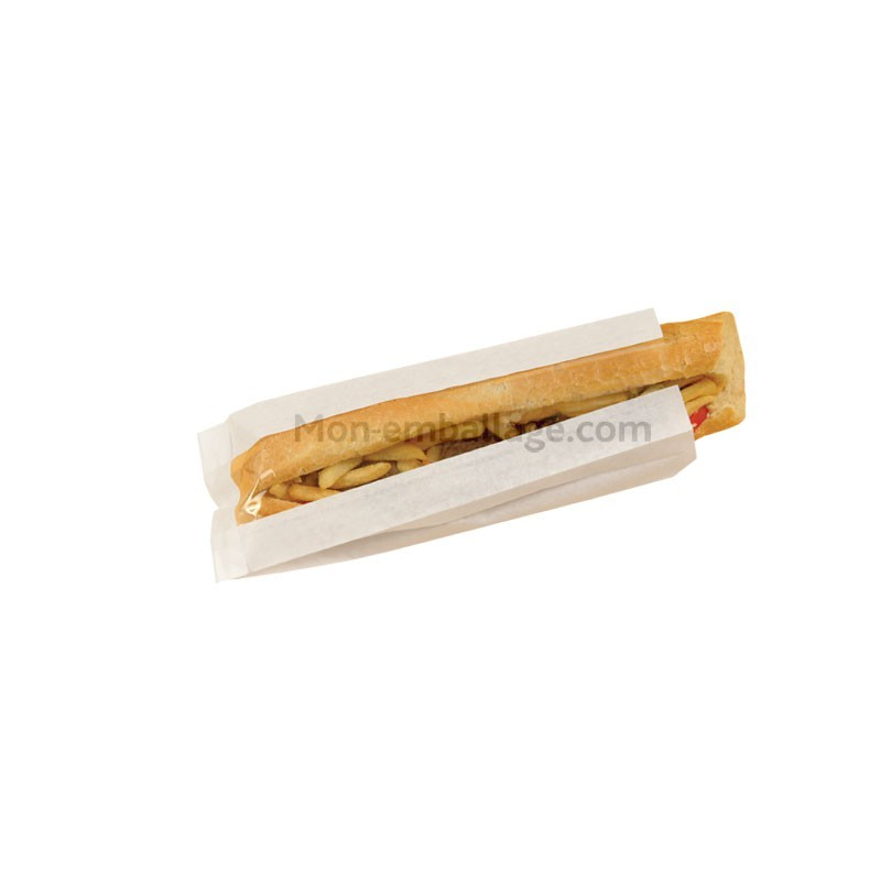 Vente sac sandwich en kraft blanc fen tre for Sac kraft fenetre