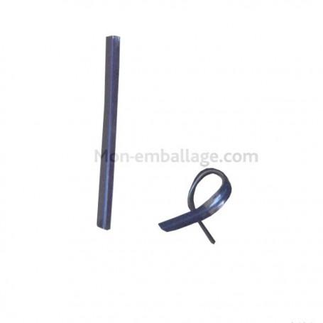 Attache cellophane bleu format 9 x 0,7 cm - par 2000