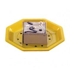 Assiette plastique octogonale 18,5 jaune - par 400