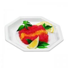 Assiette plastique octogonale 24 cm blanche - par 50
