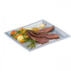 Assiette carrée nacrée 18,5 cm en plastique - par 50