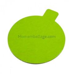 Rond à languette vert / noir diamètre 7 cm