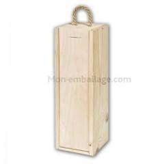 Coffret en bois pour 1 bouteille - à l'unité