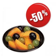 Assiettes plastique 12 cm noires - par 100