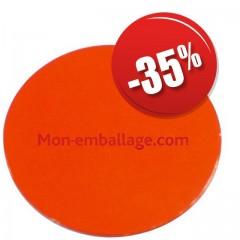Rond carton ingraissable 28 cm orange / noir - par 50