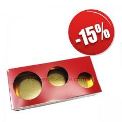 Boite à bulle rouge en carton 250gr 18 x 8,5 x 3 cm - par 12