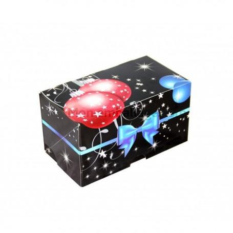 Boîte à bûche décor GALA 25 x 11 x 11 cm