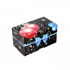 Boîte à bûche décor GALA 30 x 11 x 11 cm