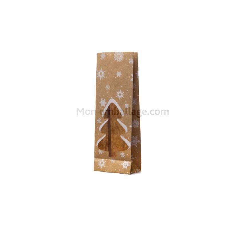 Sachet sos kraft brun motifs no l pour confiseries 8 5 x 5 - Fenetre grand format ...