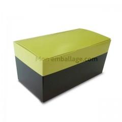 Ballotin 375 gr duo noir & vert - par 12