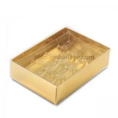 Boite alvéolée or pour 16 macarons - par 10