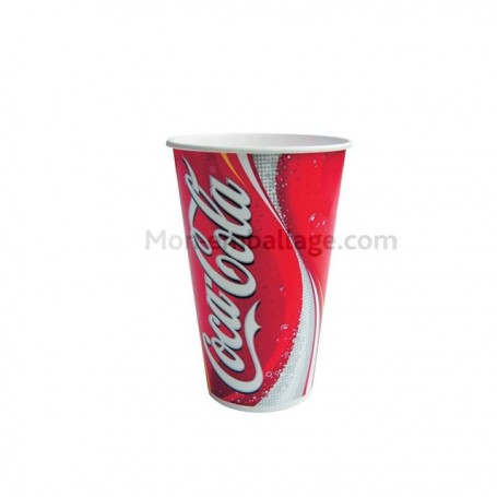 Gobelet carton rouge 25 cl Coca Cola pas cher