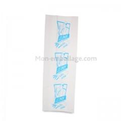 Sac à pain tranché bleu ciel et blanc 30 x 7,5 x 55 cm