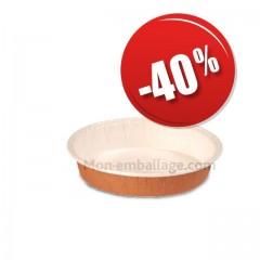 Moule de cuisson écologique rond en papier 9 x 3,8 cm - par 600