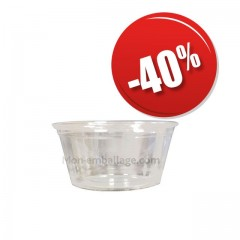 Pot plastique alimentaire pour sauce 59 ml