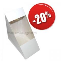Etui carton à sandiwch blanc avec fenetre pas cher