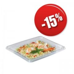 Barquette salade Pyramipack cristale 500 gr avec couvercle indépendant par cher