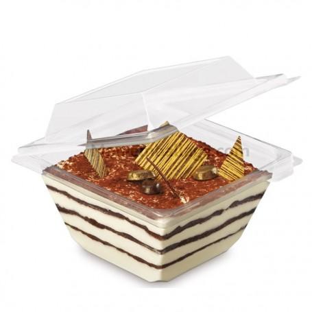 Barquette Freshipack transparente 1000 gr avec couvercle attenant - par 230