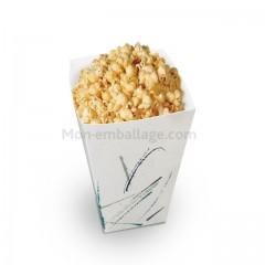 Pot à pop corn 45 gr en carton décoré pas cher
