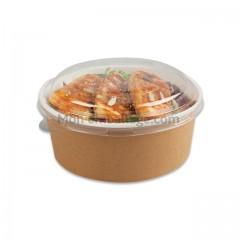 Bol salade kraft brun 700ml avec couvercle - par 150