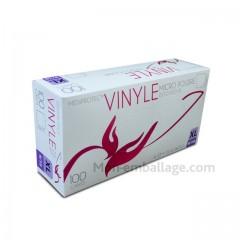 Gant vinyle naturel taille xl (9/10) - par 100