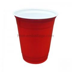Gobelet en plastique rouge 36 cl - par 50