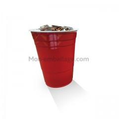 Gobelet en plastique rouge 48 cl - par 50