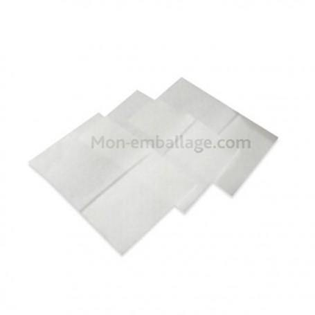 Serviette ouate blanche 1 feuille 17 x 17 cm avec pli décalé - par 400