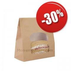 Sac à emporter avec fenêtre pour sandwich - par 50