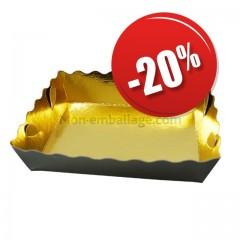 Caissette dentelle intérieur or/extérieur noir 11 x 8 x 3,5 cm - paquet de 250