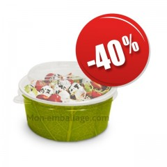 Bol salade carton vert 750 ml - par 500