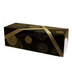 Boites à buche décor Noël or 40 x 11 x 10 cm - par 25