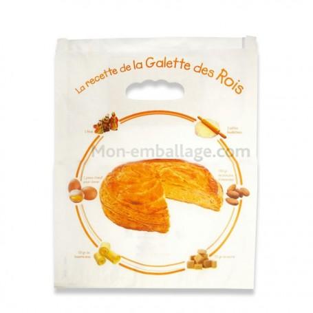 Sac ingraissable motif recette pour galette des rois 35 x 3 x 40 cm - par 100