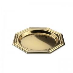Assiette octogonale dorée 8,5 cm - par 125