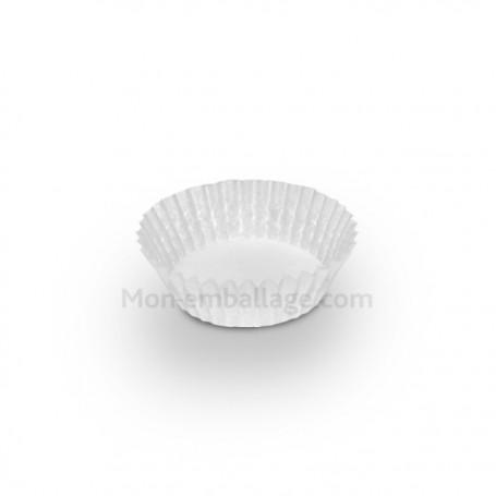 Caissette pâtissière plissée blanche 3.5 x 1.3 cm - par 1000