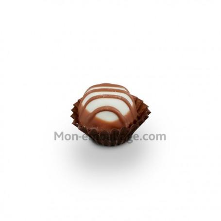 Caissette pâtissière plissée brune 2 x 1.6 cm - par 1000