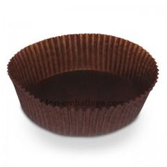 Caissette pâtissière plissée brune 8.9 x 3 cm - par 1000