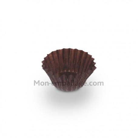 Caissette pâtissière plissée brune 2,3 x 1,7 cm - par 1000