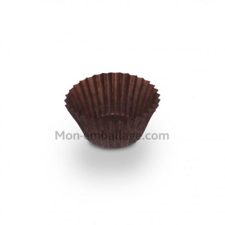 Caissette pâtissière plissée brune 2,8 x 2 cm - par 1000