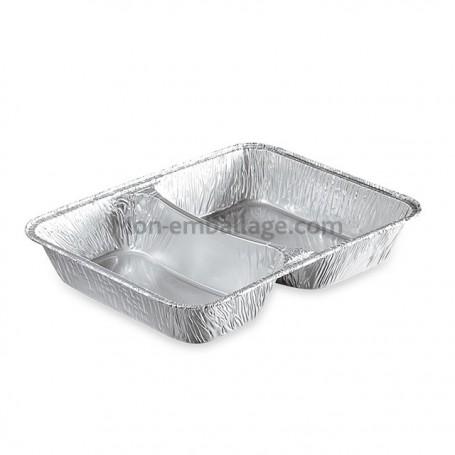 Barquettes aluminium 2 compartiments 850 g - carton de 800
