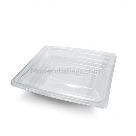 Boite salade Pyramipack transparente 750 gr avec couvercle antibuée - par 40