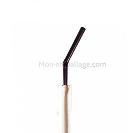 Paille flexible noire - par 250