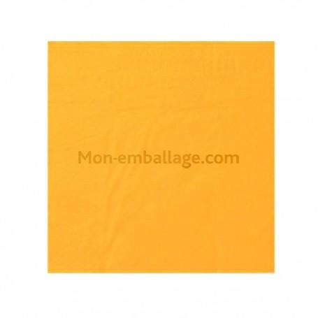 Serviette jetable ouate 38 x 38 cm jaune - par 100