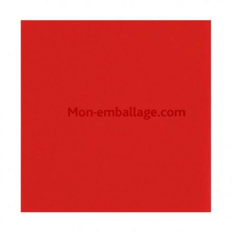 Serviette jetable ouate 38 x 38 cm rouge - par 50